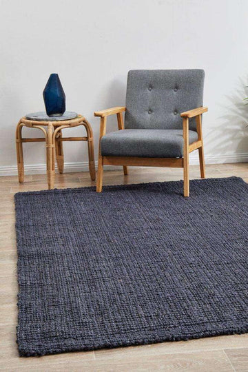 Simple Style Co: Anahola Chunky Jute Rug Navy | Buy Jute Rugs Australia