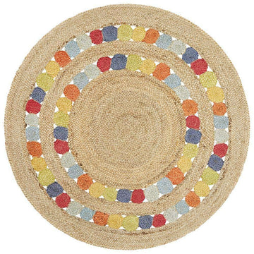 Atrium Gumball Multicolour Jute Rug - Simple Style Co