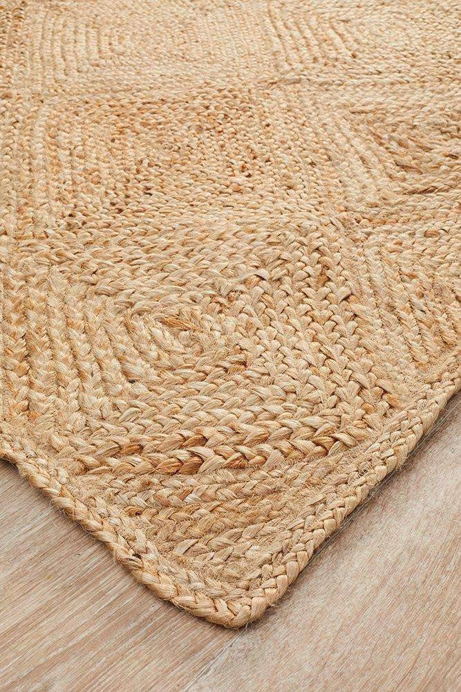Atrium Hatch Natural Jute Diamond Rug - Simple Style Co