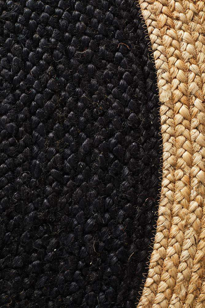 Polo Black Round Jute Rug - Simple Style Co