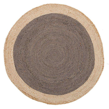 Atrium Polo Charcoal Grey Round Jute Rug - Simple Style Co
