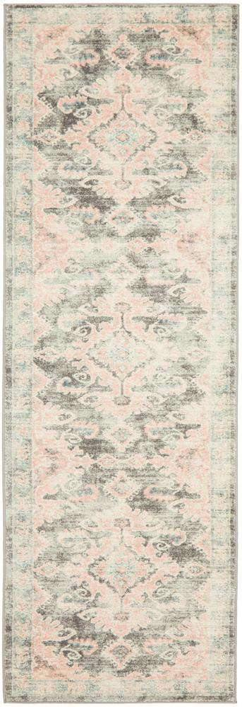 Avenue 701 Grey & Pink Transitional Rug - Simple Style Co