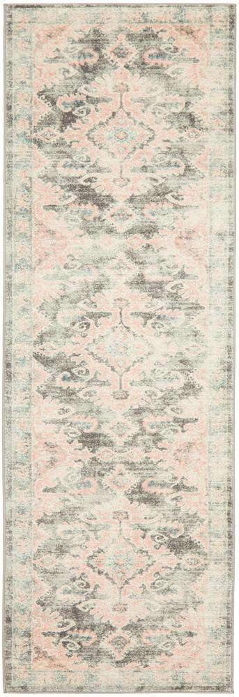 Gracie Grey & Pink Transitional Runner Rug - Simple Style Co