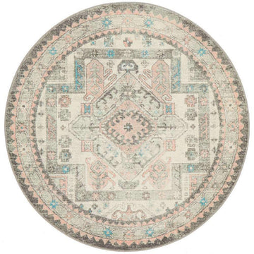 Avenue 704 Silver Round Rug - Simple Style Co