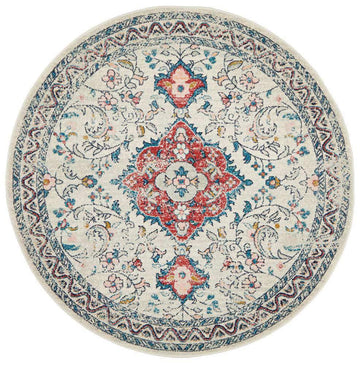 Avenue 705 Pastel Traditional Round Rug - Simple Style Co