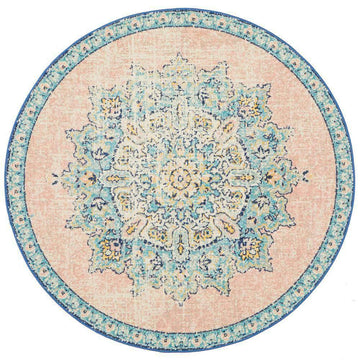 Simple Style Co: Verity Pink Round Rug | Buy Pink Rugs Online Australia