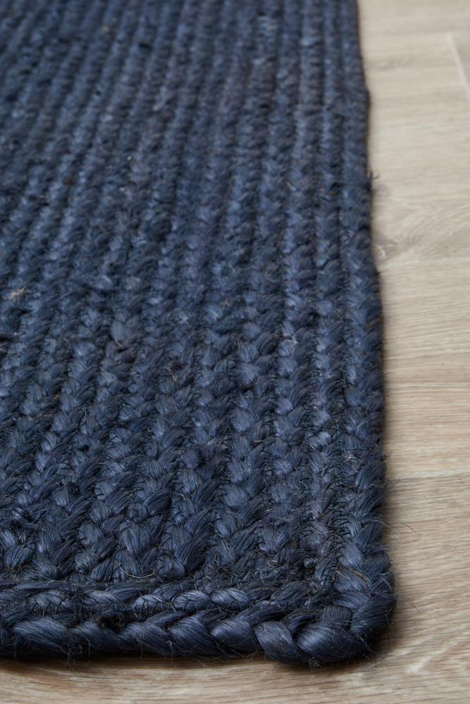 Bondi Navy Jute Rug - Simple Style Co