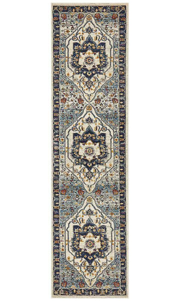 Erdek Blue Medallion Runner Rug - Simple Style Co