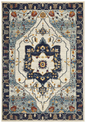 Erdek Traditional Medallion Rug Blue | Free Delivery | Simple Style Co
