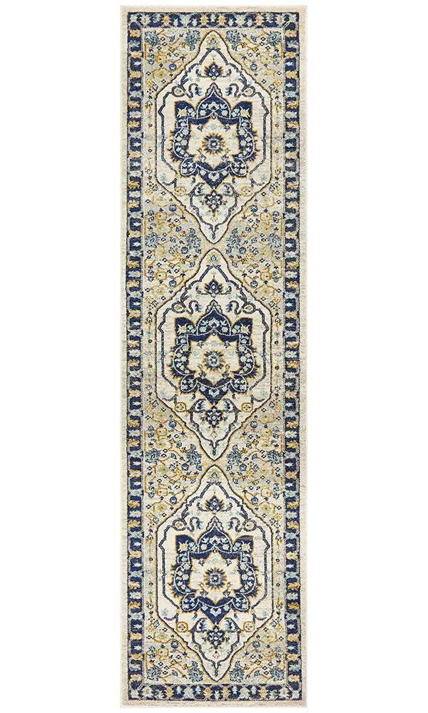 Erdek Navy Medallion Runner Rug - Simple Style Co