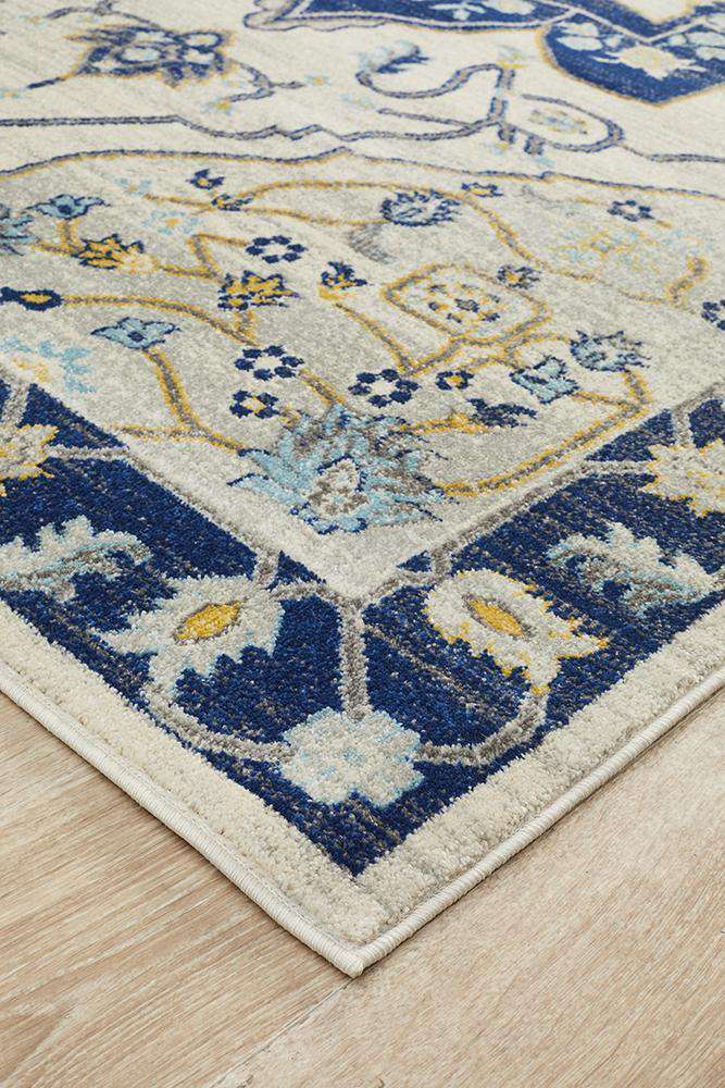 Erdek Navy Medallion Rug - Simple Style Co