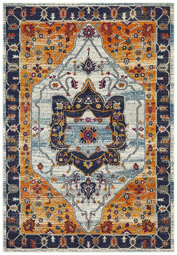 Erdek Rust Traditional Medallion Rug - Simple Style Co