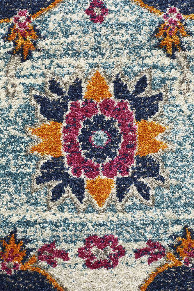 Erdek Traditional Medallion Rug - Rust