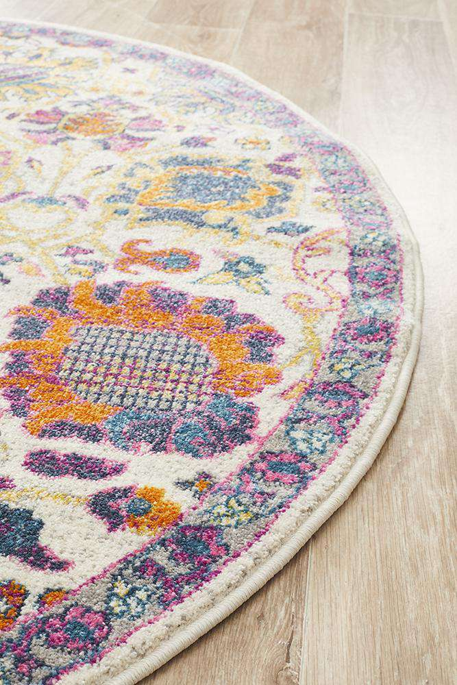 Babylon 206 Multi  Round Rug - Simple Style Co