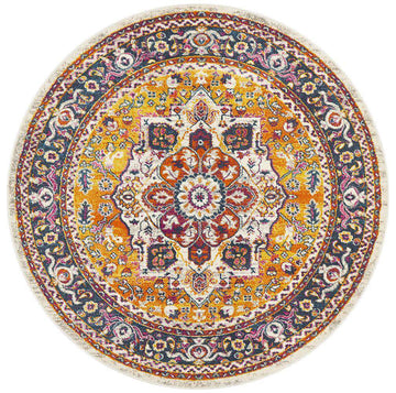 Yettem Traditional Round Rug | Free Delivery | Simple Style Co