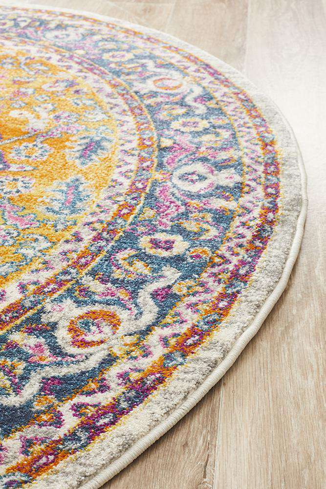 Yettem Traditional Round Rug - Simple Style Co