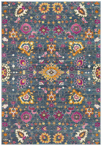 Lisse Traditional Rug - Blue - Simple Style Co