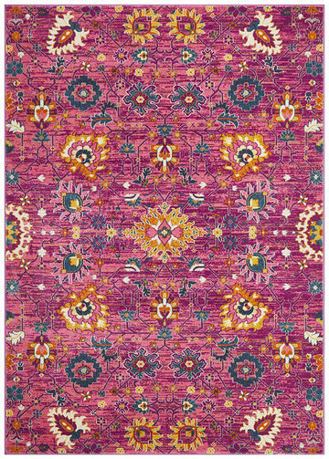 Lisse Traditional Rug Fuchsia - Free Delivery | Simple Style Co