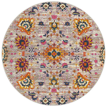 Lisse Traditional Round Rug - Multi - Simple Style Co