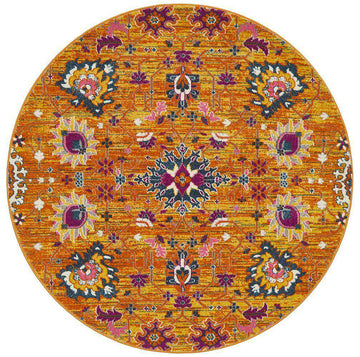 Lisse Traditional Round Rug Rust | Free Delivery | Simple Style Co
