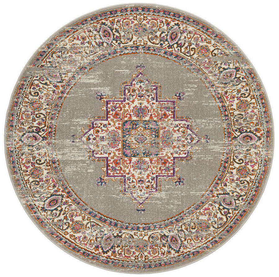 Ladakh Traditional Round Rug - Simple Style Co