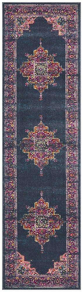 Goa Navy Traditional Runner Rug - Simple Style Co