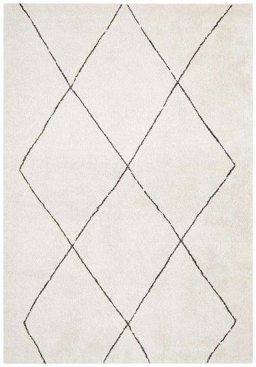 Manhattan Diamond Rug - Ivory - Simple Style Co