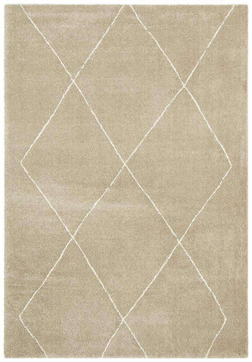 Manhattan Diamond Rug - Natural - Simple Style Co