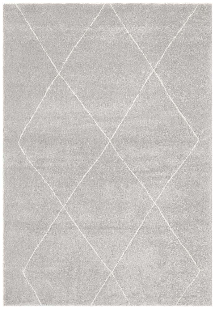 Manhattan Diamond Rug Silver | Modern Rugs | AfterPay Rugs
