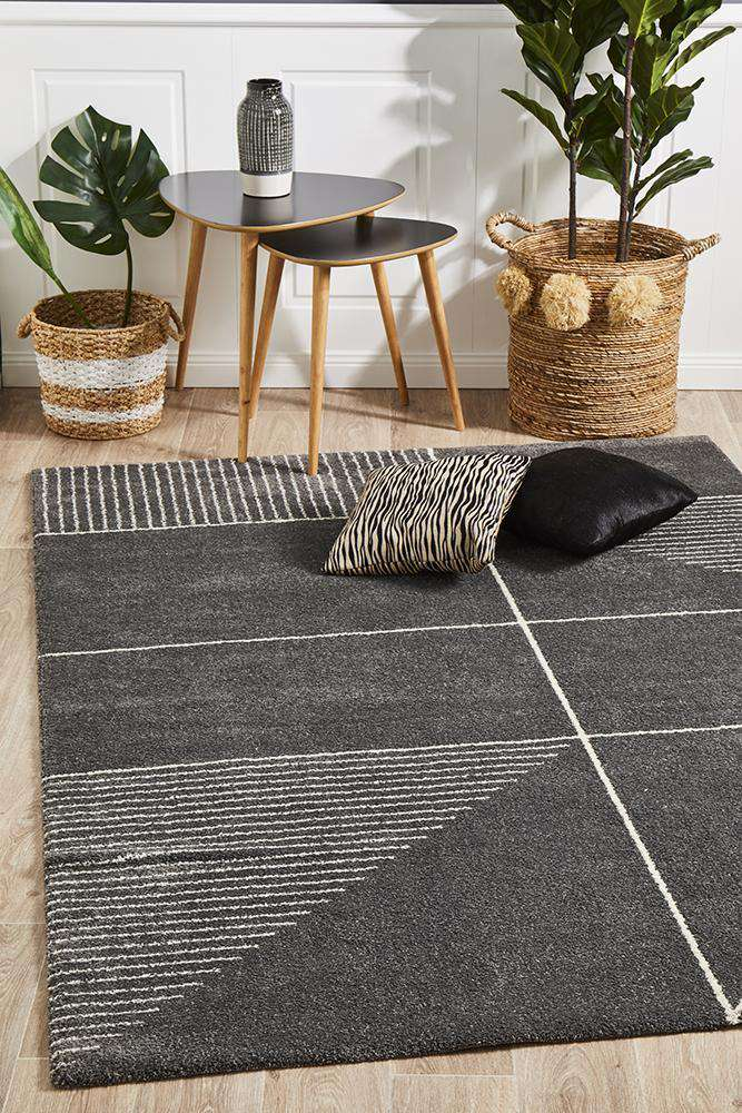 Tribeca Rug Charcoal | Modern Rugs | AfterPay Rugs