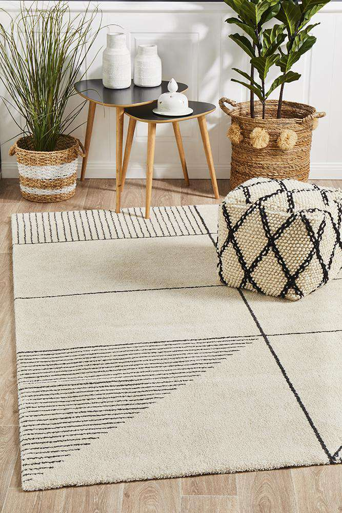 Tribeca Rug Ivory | Modern Rugs | AfterPay Rugs