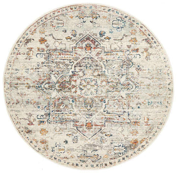 Ivy Transitional Round Rug - Simple Style Co