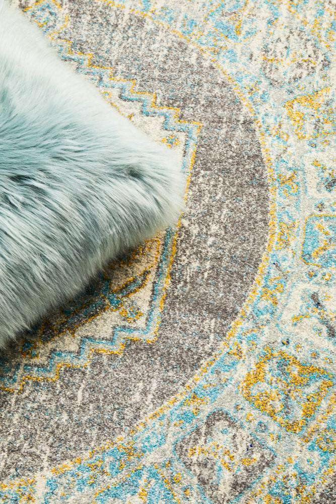 Zephyr Transitional Round Rug - Simple Style Co