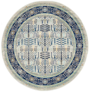 Miray Transitional Round Rug - Simple Style Co