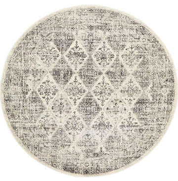 Esra Grey Transitional Round Rug - Simple Style Co
