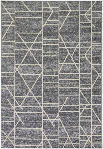 Courtyard Copenhagen Indoor/Outdoor Charcoal Rug