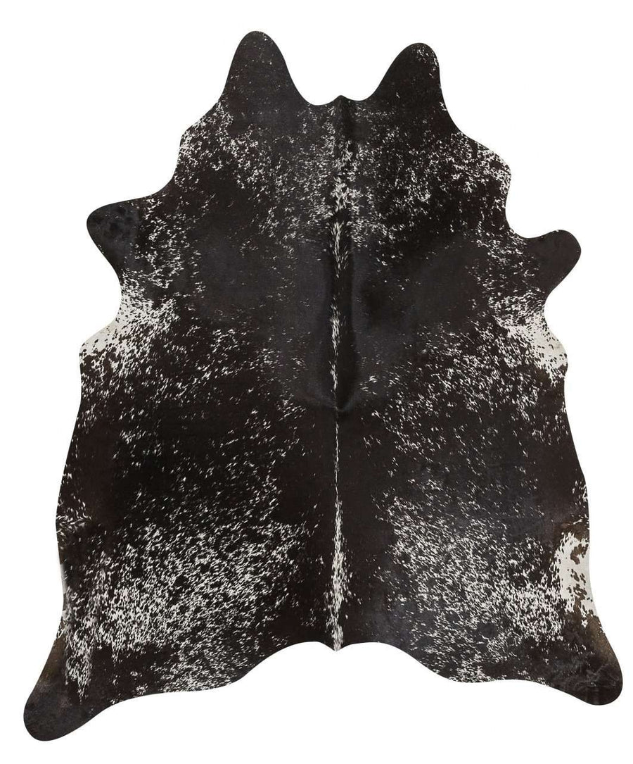 Cow Hide - Salt & Pepper Black
