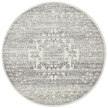 Addison Aztec Silver Grey Round Rug - Simple Style Co