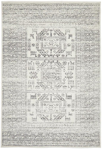 Addison Aztec Silver Grey Rug - Simple Style Co