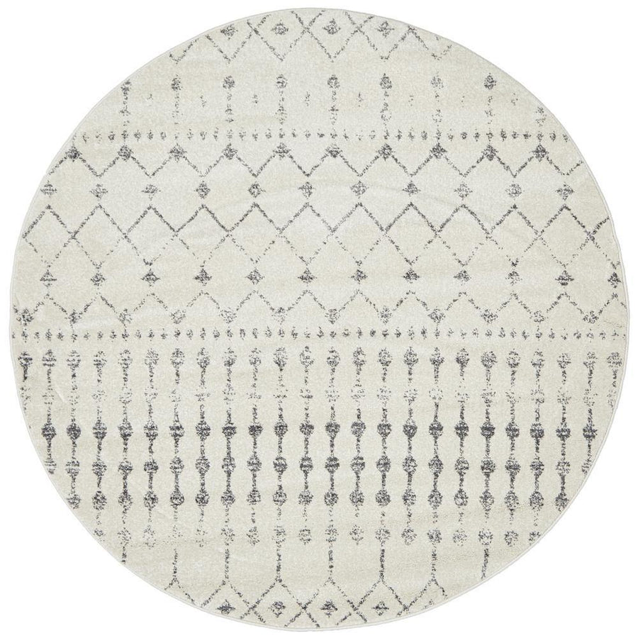 Elsa Transitional Trellis Round Rug - Simple Style Co
