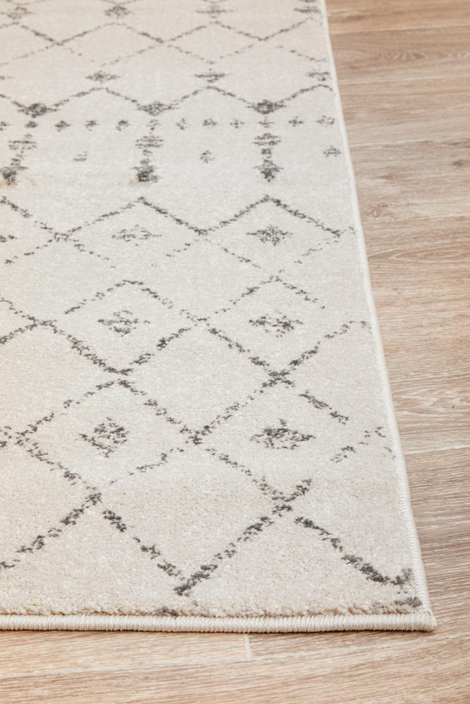 Elsa Transitional Trellis Rug - Silver - Simple Style Co