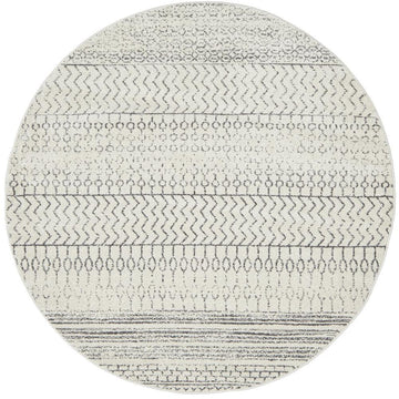 Harper Tribal Round Silver Grey Rug - Simple Style Co