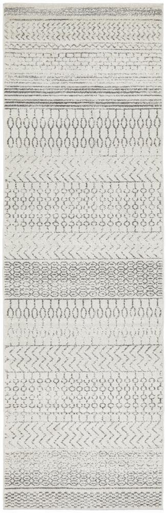 Harper Tribal Silver Grey Hallway Runner - Simple Style Co