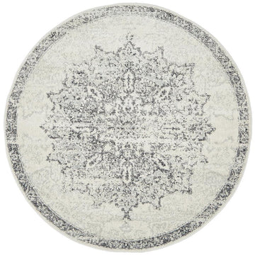Rita Round Silvery Grey Rug - Simple Style Co