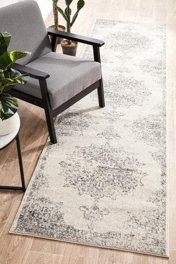 Rita Silver Grey Hallway Runner - Simple Style Co