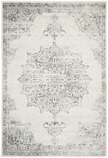Rita Silvery Grey Transitional Rug - Simple Style Co