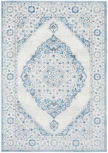 Clara Blue Transitional Rug - Simple Style Co