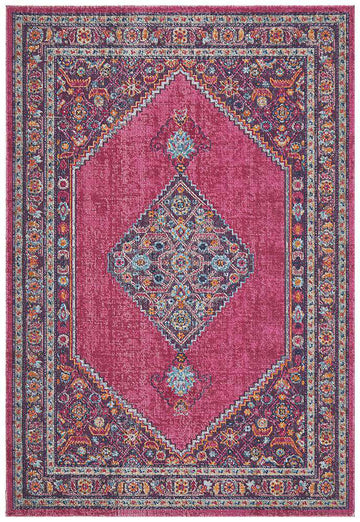 Fethiye Pink Distressed Diamond Rug - Simple Style Co