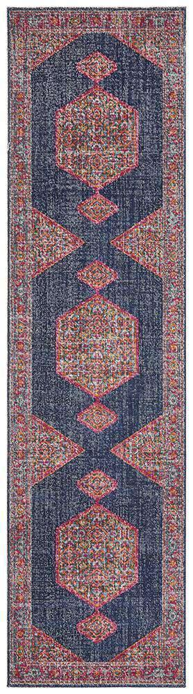 Edessa Navy Traditional Runner Rug - Simple Style Co