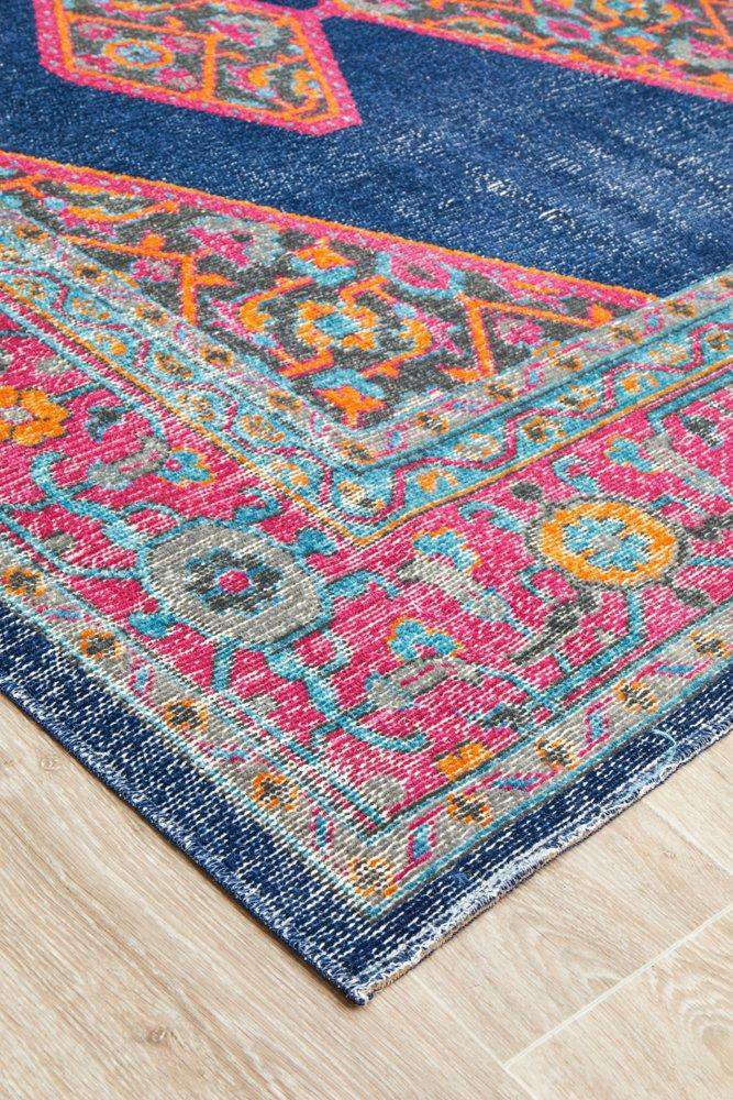 Edessa Navy Traditional Rug - Simple Style Co